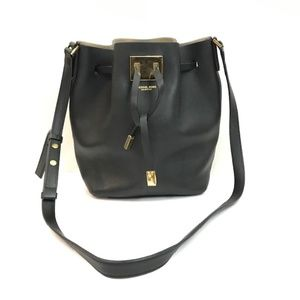 Michael Kors Collection Miranda Bucket Bag Black